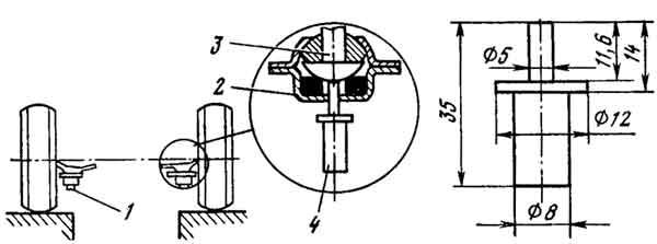 Проверка износа нижних шаровых опор