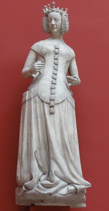 Слепок статуи Изабеллы Баварской из Дворца правосудия в Пуатье